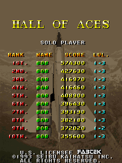 Pessimeister: Raiden II [raiden2] (Arcade Emulated / M.A.M.E.) 574,300 points on 2019-09-27 12:18:40