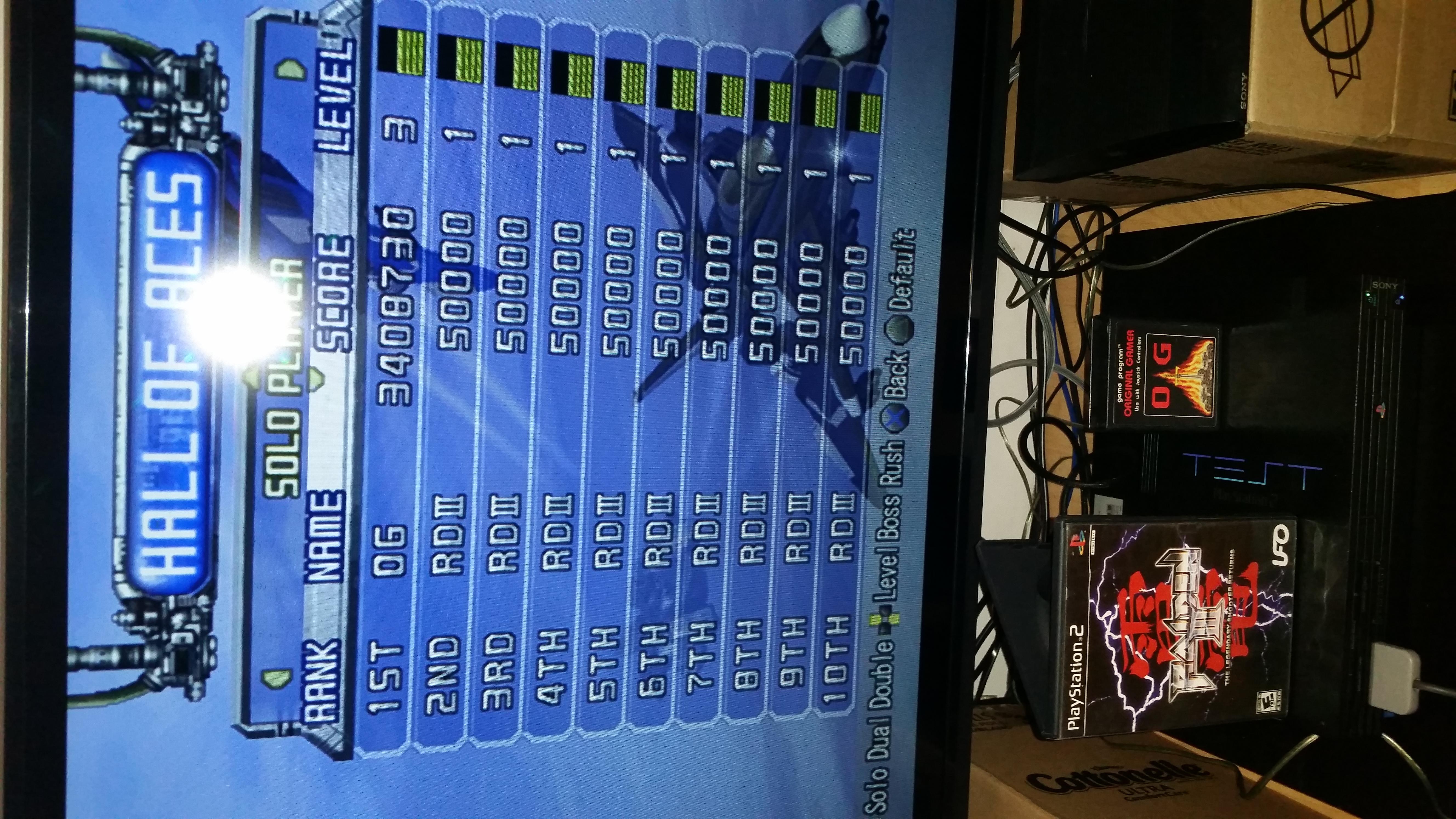OriginalGamer: Raiden III [Normal/3 Lives/3 Bomb Stock] (Playstation 2) 3,408,730 points on 2015-10-22 18:57:12