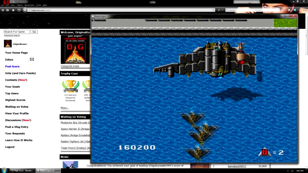 OriginalGamer: Raiden (TurboGrafx-16/PC Engine Emulated) 160,200 points on 2015-08-13 17:05:27
