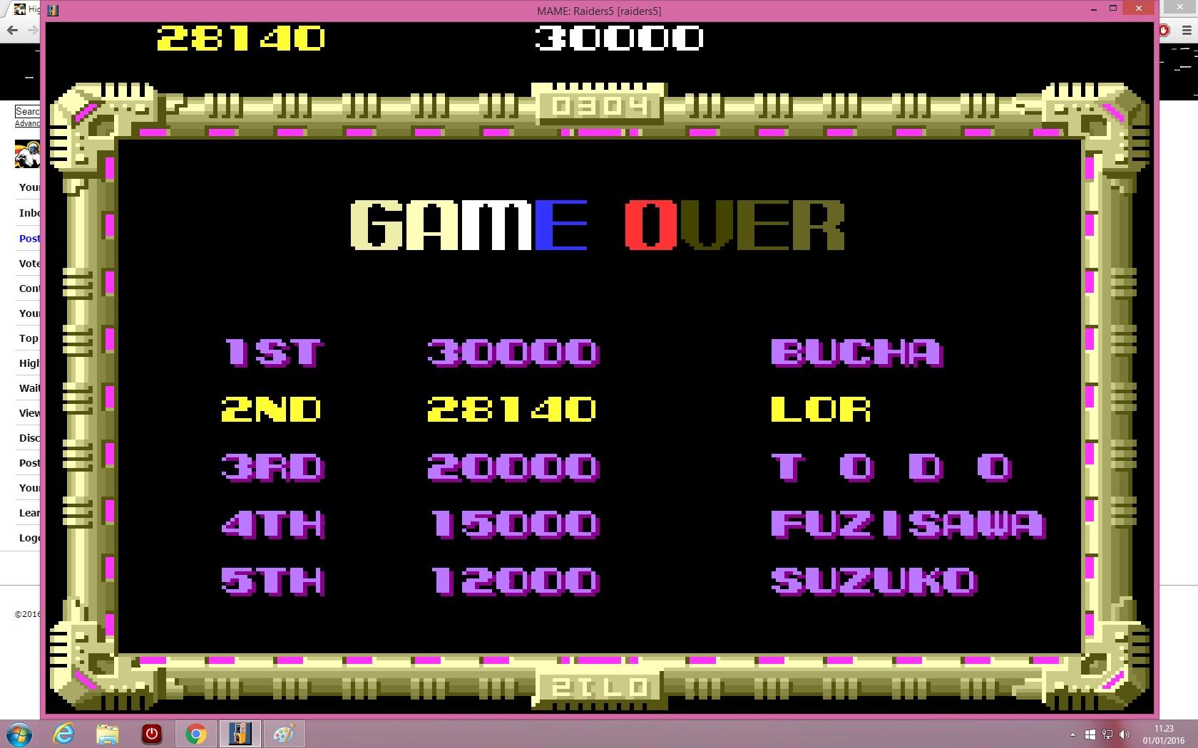 lenny2571: Raiders5 [raiders5] (Arcade Emulated / M.A.M.E.) 28,140 points on 2016-01-01 04:24:08