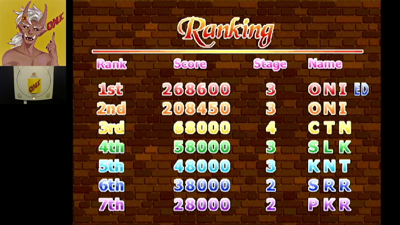 OniDensetsu: Rainbow Cotton (Dreamcast) 268,600 points on 2021-02-18 02:24:59