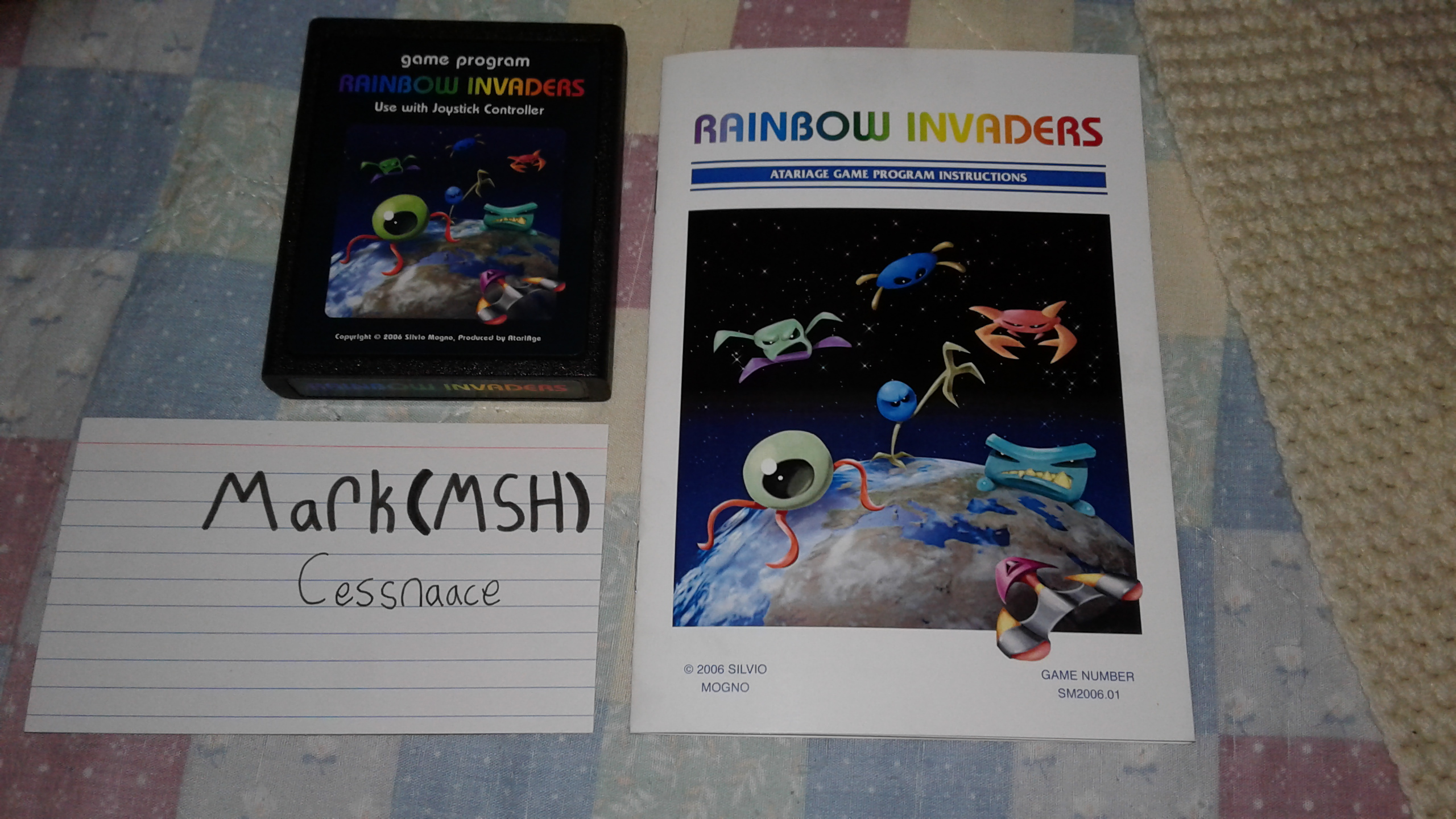 Rainbow Invaders 15,250 points