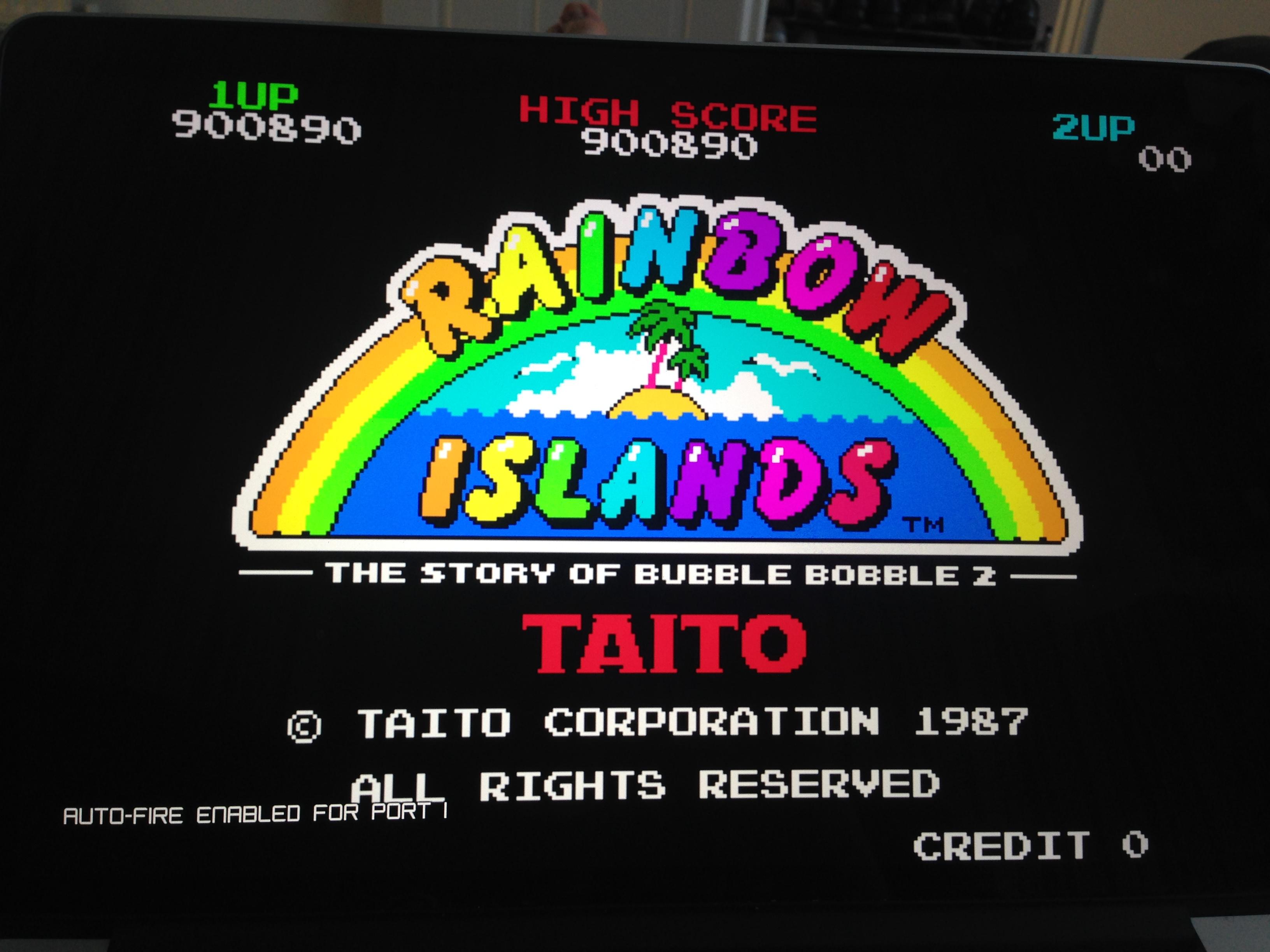 Rainbow Islands 900,890 points