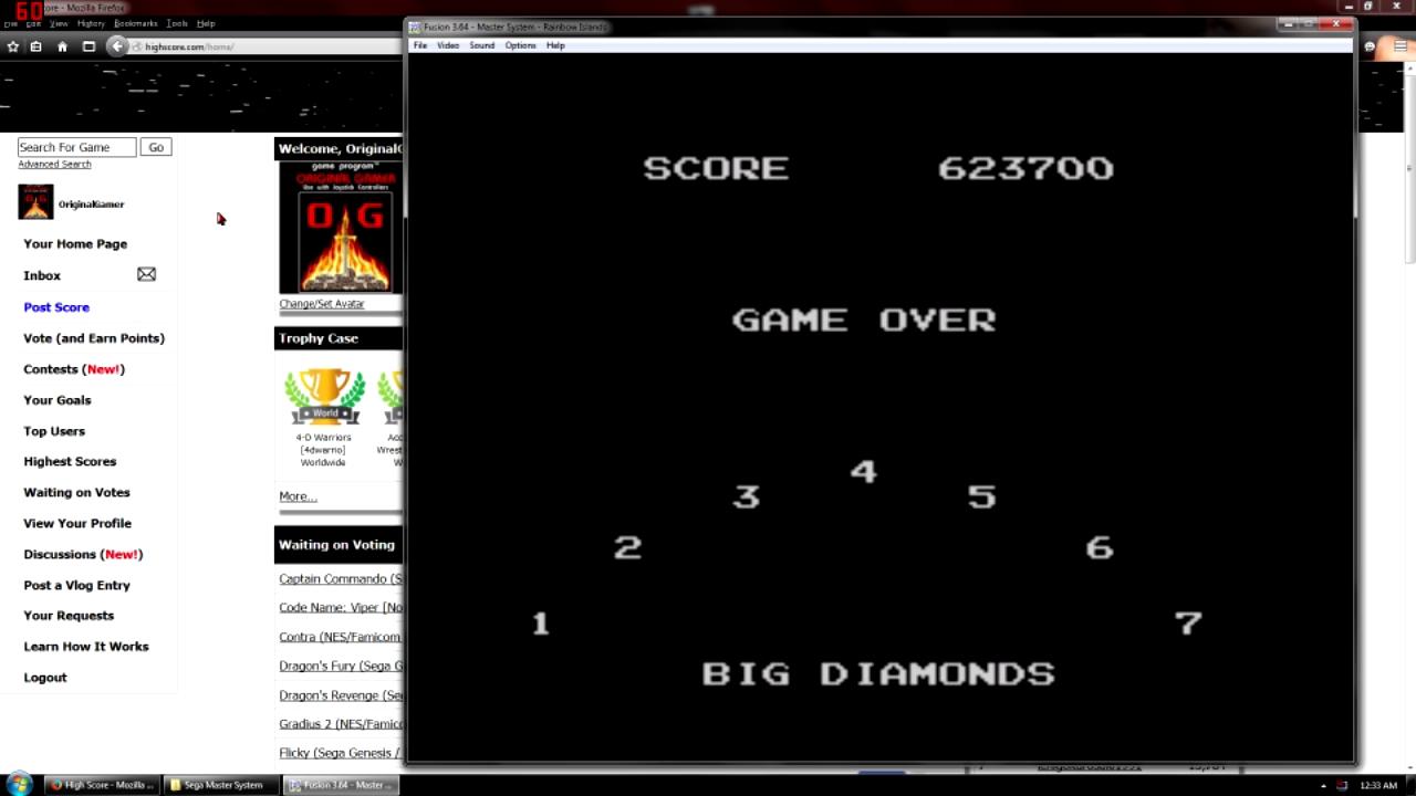 OriginalGamer: Rainbow Islands (Sega Master System Emulated) 623,700 points on 2015-09-11 21:50:22