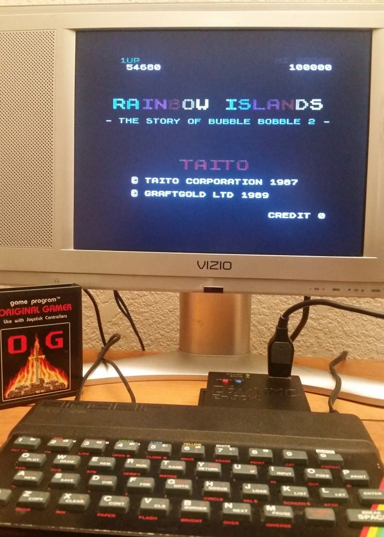 OriginalGamer: Rainbow Islands (ZX Spectrum) 54,680 points on 2017-12-17 00:48:35