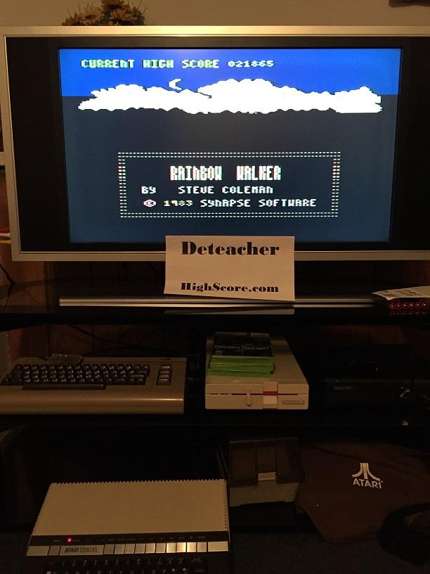 Deteacher: Rainbow Walker (Atari 400/800/XL/XE) 21,865 points on 2016-04-27 21:19:59