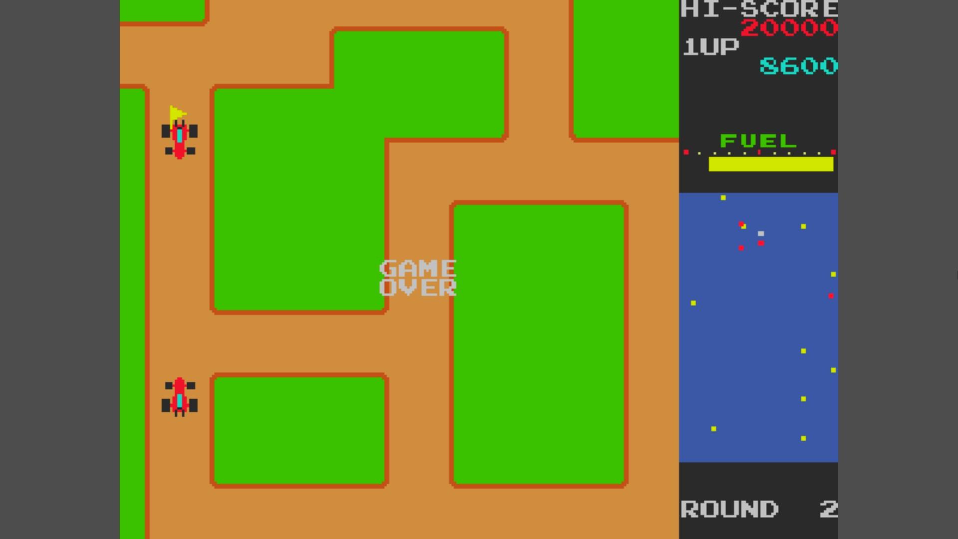 AkinNahtanoj: Rally X (Arcade Emulated / M.A.M.E.) 8,600 points on 2020-10-19 13:39:44
