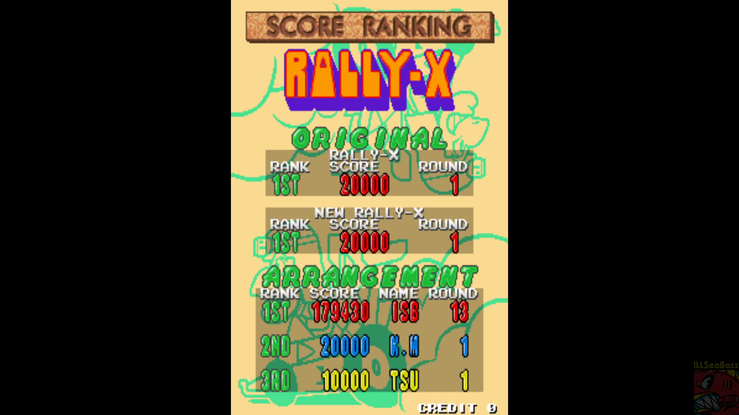 ILLSeaBass: Rally-X Arrangement (Arcade Emulated / M.A.M.E.) 179,430 points on 2020-04-30 17:00:58