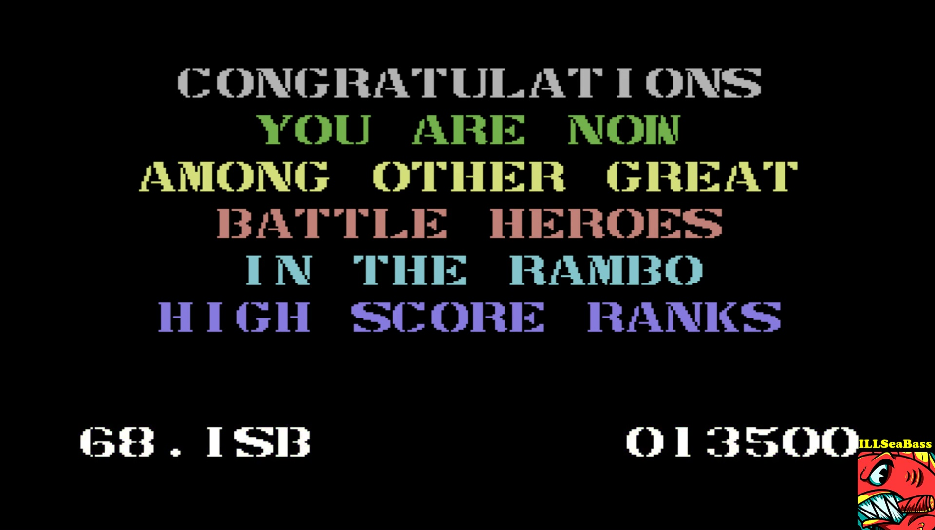 ILLSeaBass: Rambo: First Blood Part II (Commodore 64 Emulated) 13,500 points on 2017-04-30 22:15:25