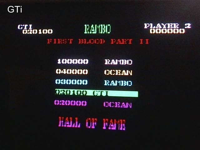 GTibel: Rambo: First Blood Part II [Easy] (ZX Spectrum) 20,100 points on 2017-08-18 12:19:45