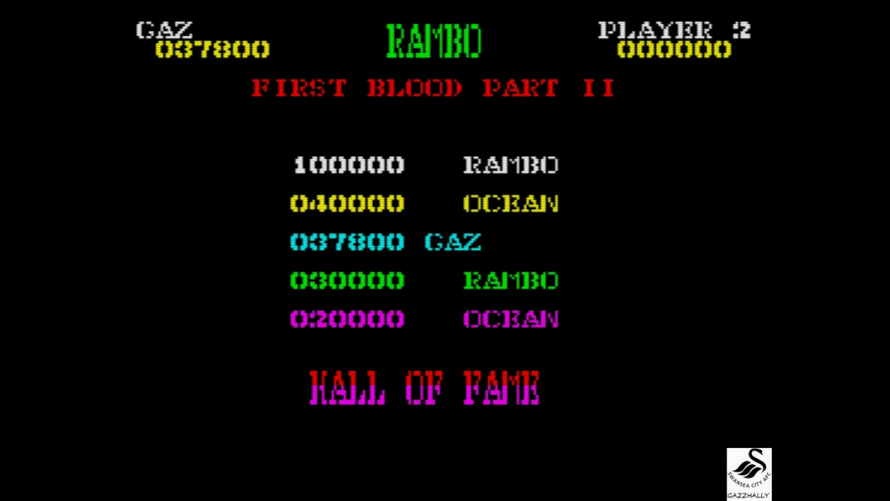 gazzhally: Rambo: First Blood Part II [Easy] (ZX Spectrum Emulated) 37,800 points on 2017-08-21 03:19:56
