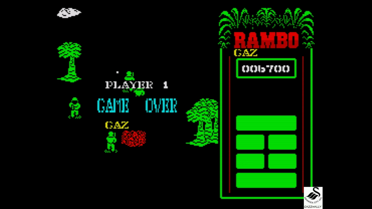 gazzhally: Rambo: First Blood Part II [Fair] (ZX Spectrum Emulated) 6,700 points on 2017-10-03 15:57:30