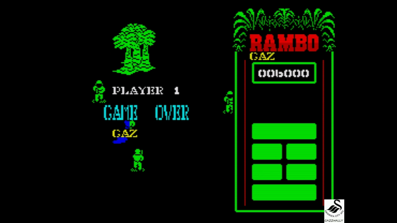 gazzhally: Rambo: First Blood Part II [Hard] (ZX Spectrum Emulated) 6,000 points on 2017-10-03 15:58:25
