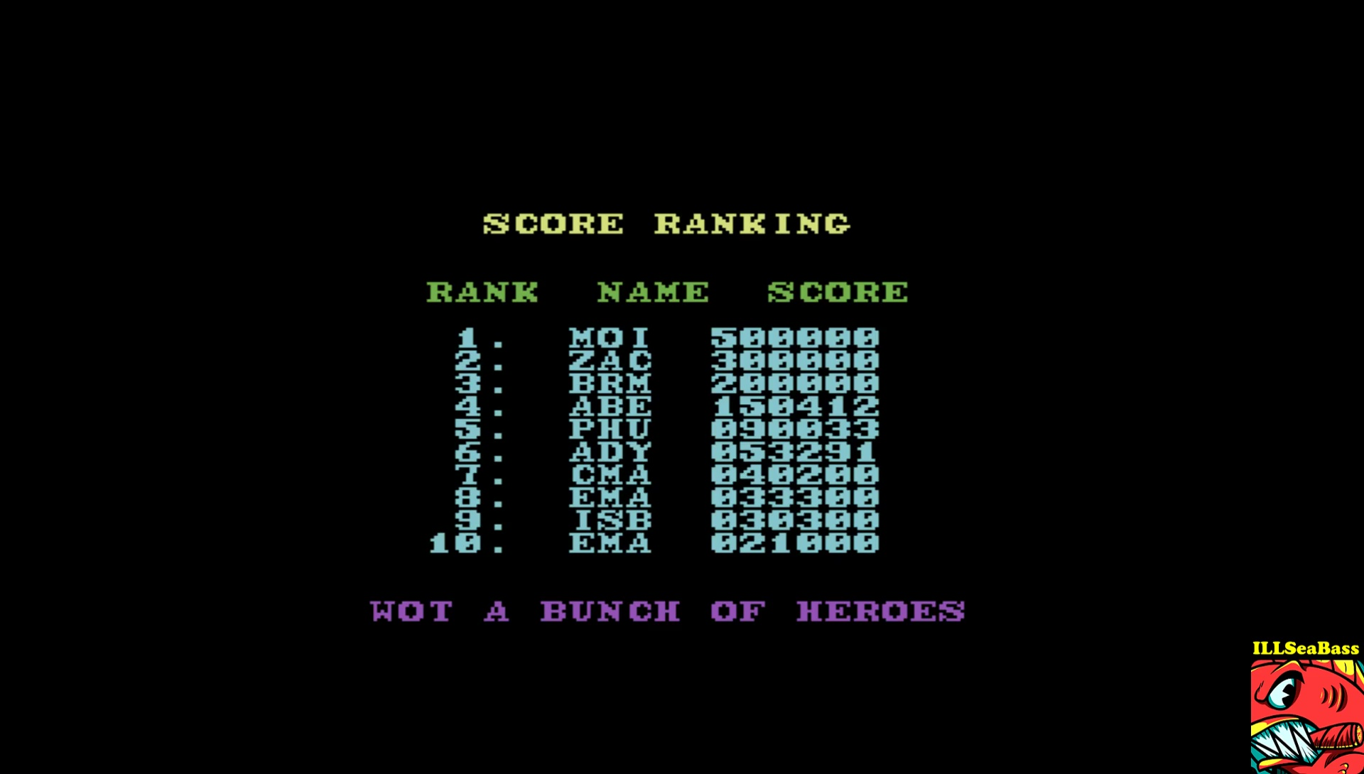 ILLSeaBass: Rambo III (Commodore 64 Emulated) 30,300 points on 2017-04-30 22:56:40