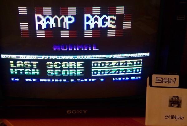 SHiNjide: Ramp Rage v1.1 (Atari 400/800/XL/XE) 24,430 points on 2015-06-19 16:46:45