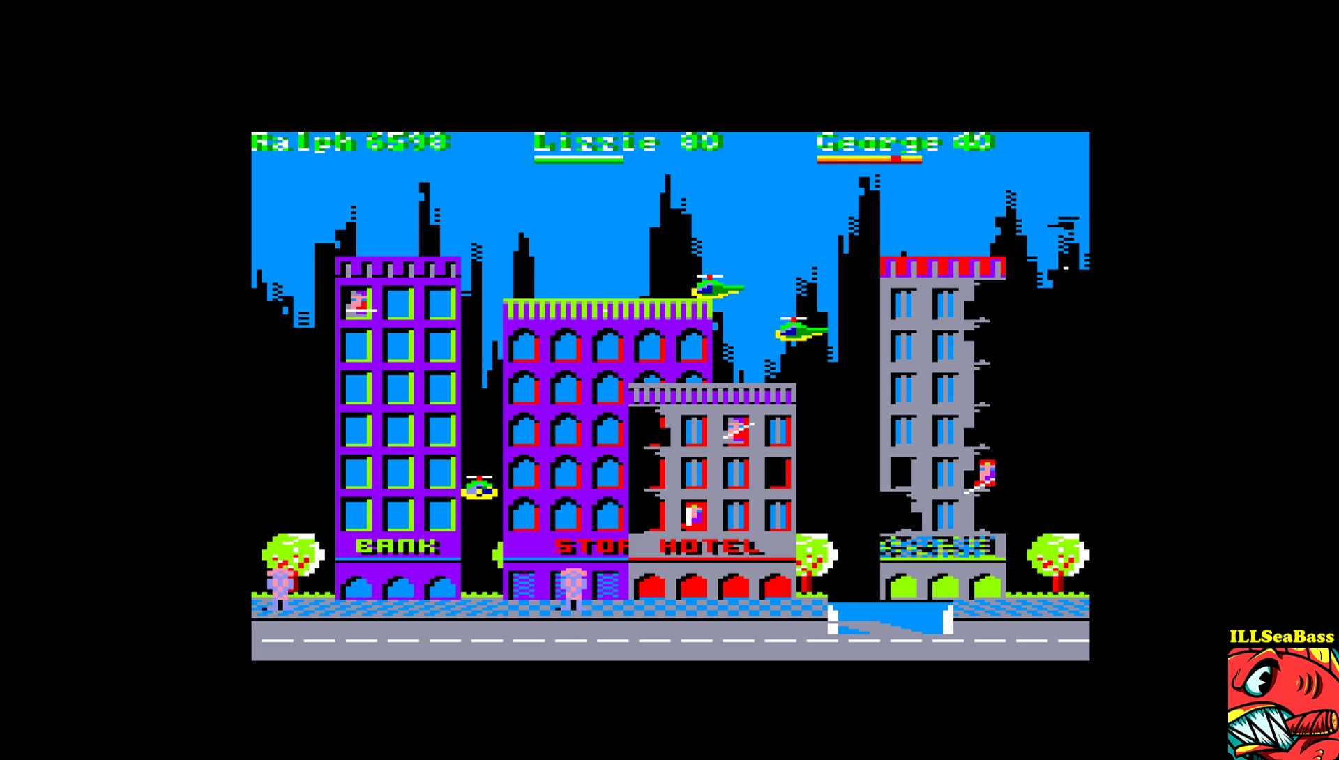 ILLSeaBass: Rampage (Amstrad CPC Emulated) 6,598 points on 2017-03-01 00:48:09