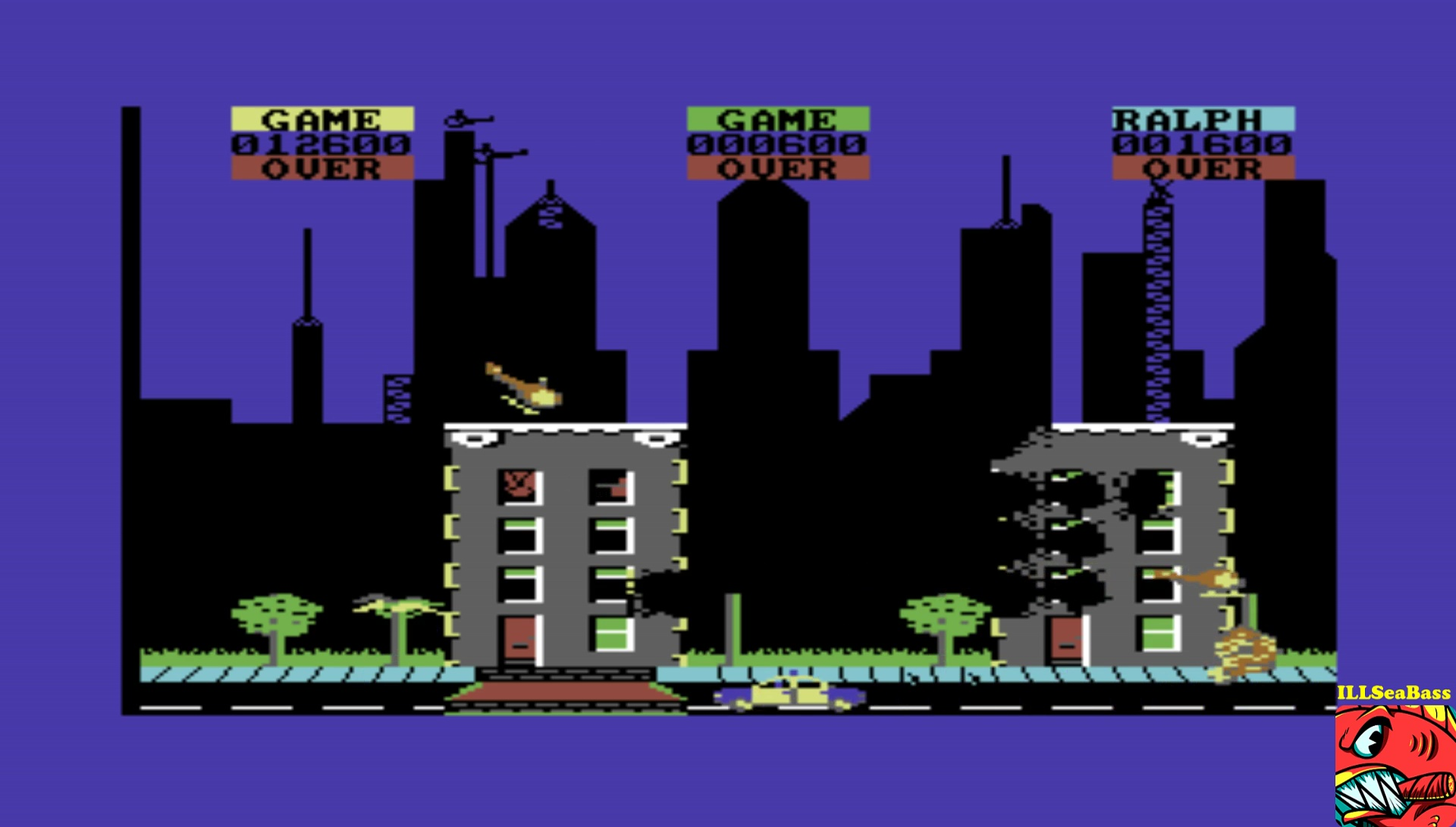ILLSeaBass: Rampage (Commodore 64 Emulated) 12,600 points on 2017-02-25 21:04:11