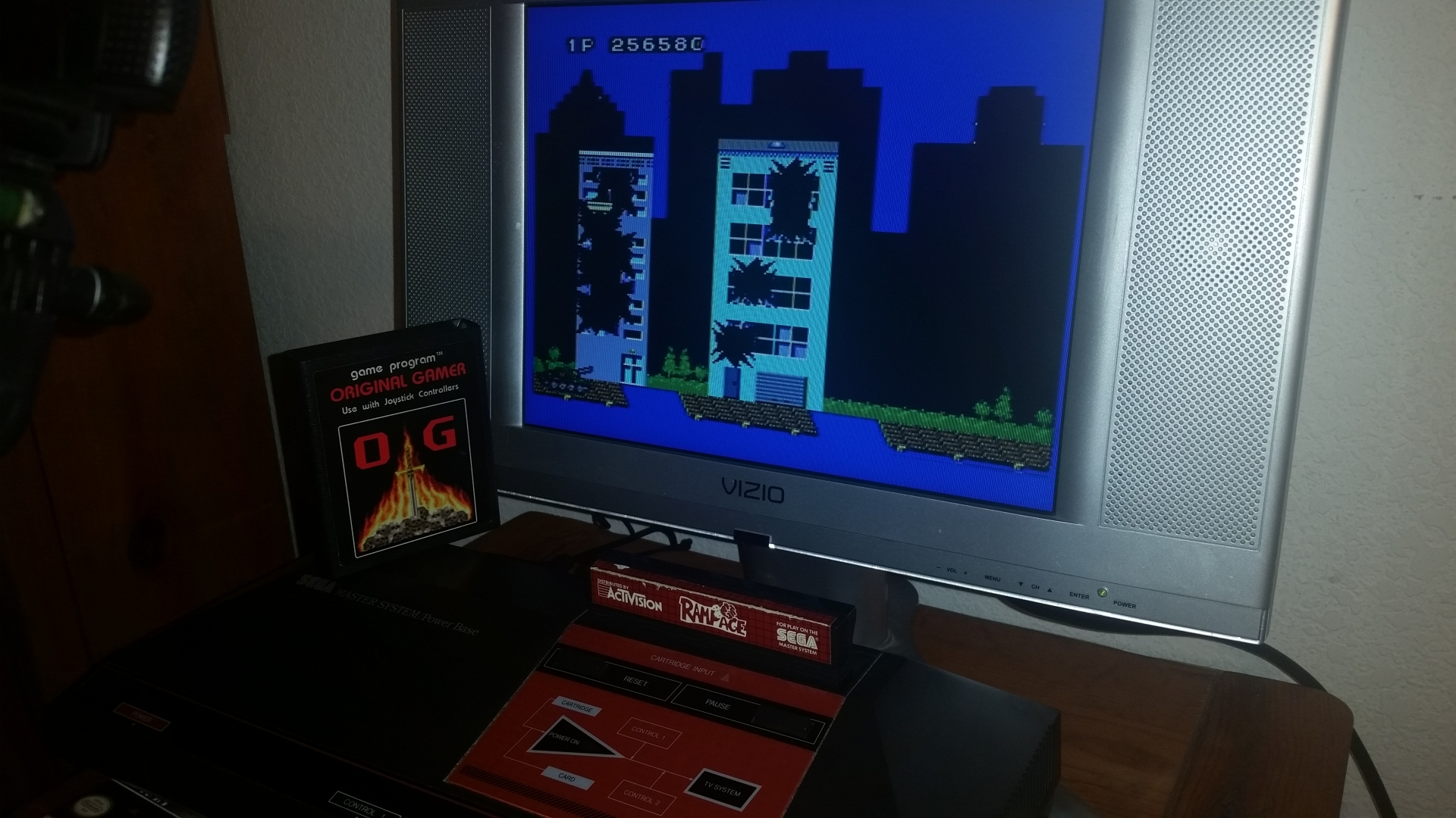 OriginalGamer: Rampage (Sega Master System) 256,580 points on 2016-11-17 23:38:31
