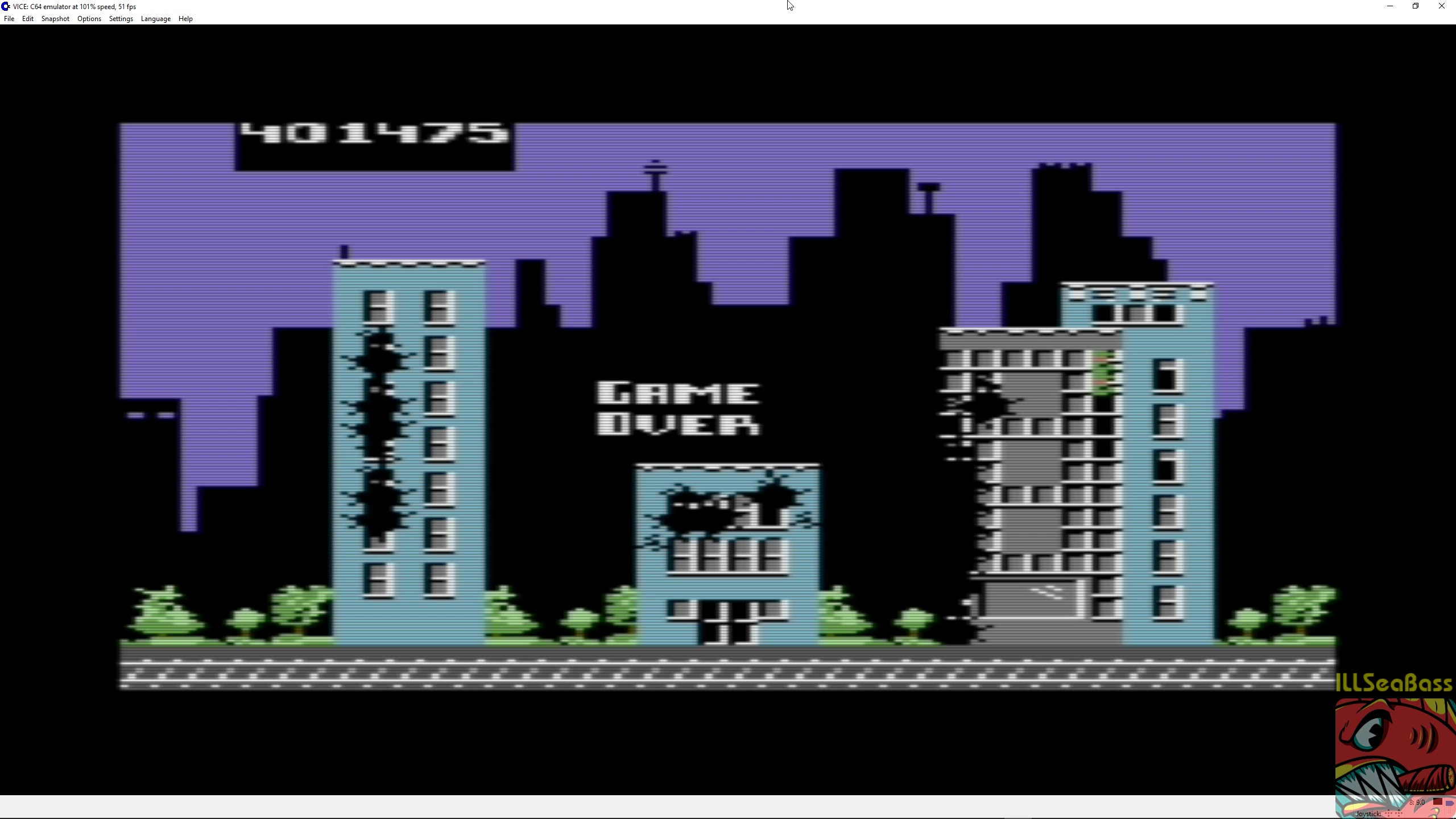 ILLSeaBass: Rampage [USA Version] (Commodore 64 Emulated) 401,475 points on 2018-04-25 23:57:39