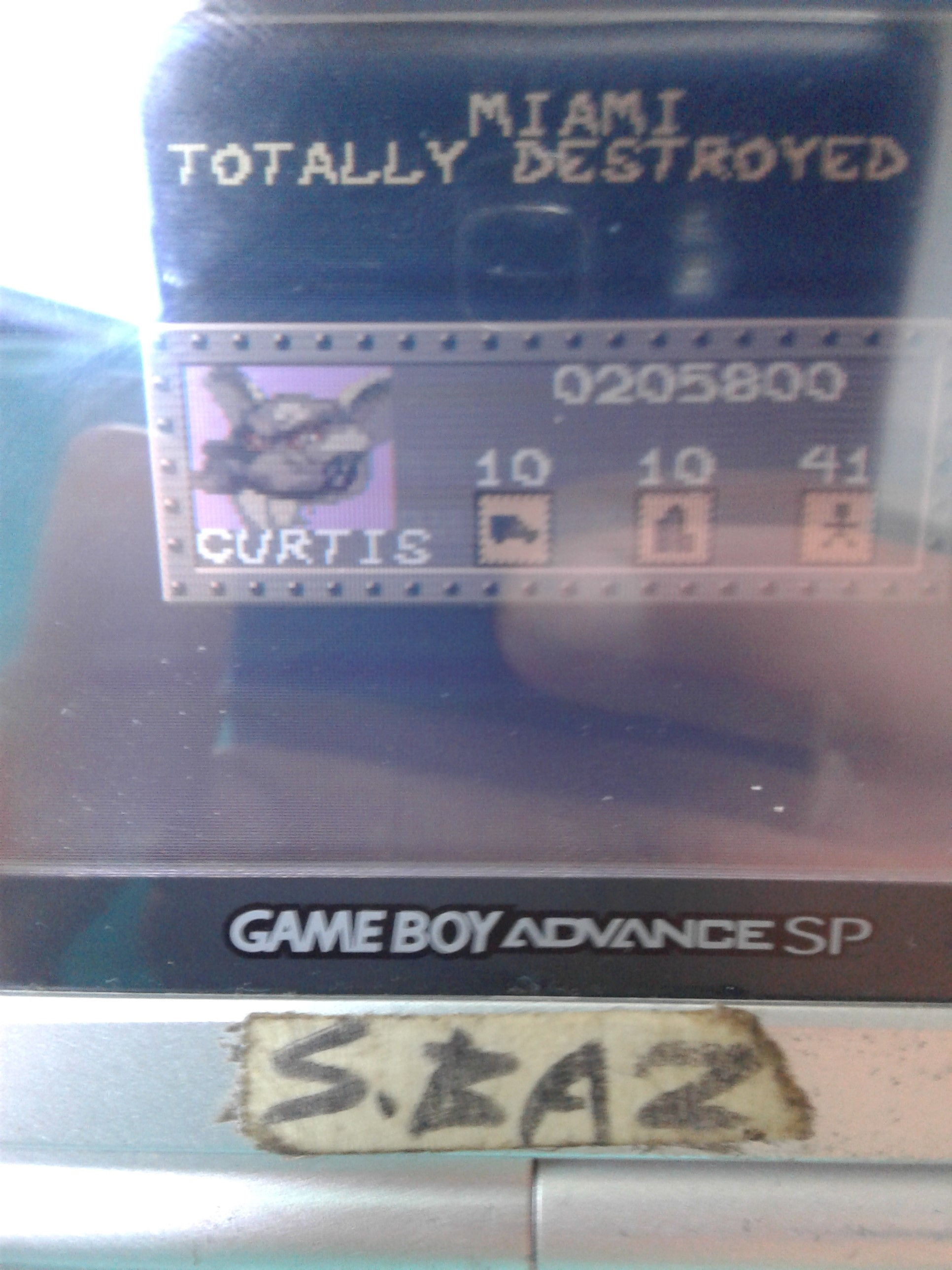 S.BAZ: Rampage World Tour (Game Boy Color) 205,800 points on 2019-11-21 21:38:14