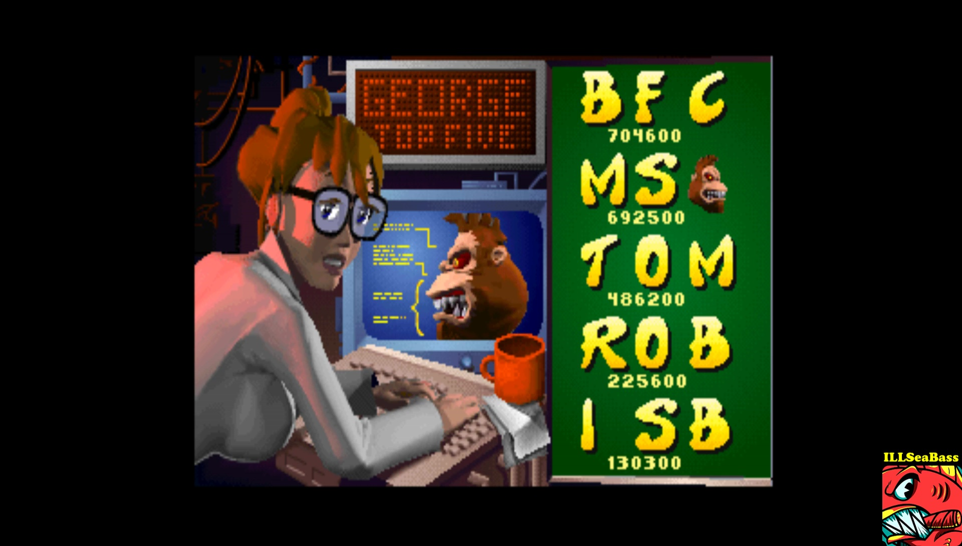 ILLSeaBass: Rampage World Tour [rmpgwt] (Arcade Emulated / M.A.M.E.) 130,300 points on 2017-05-27 23:58:22