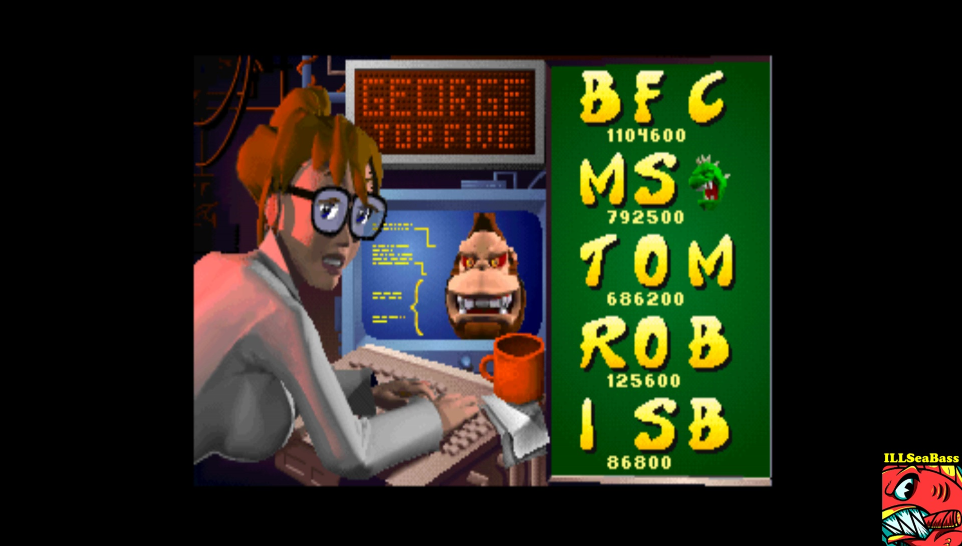ILLSeaBass: Rampage World Tour [rmpgwt11] (Arcade Emulated / M.A.M.E.) 86,800 points on 2017-08-27 21:18:32
