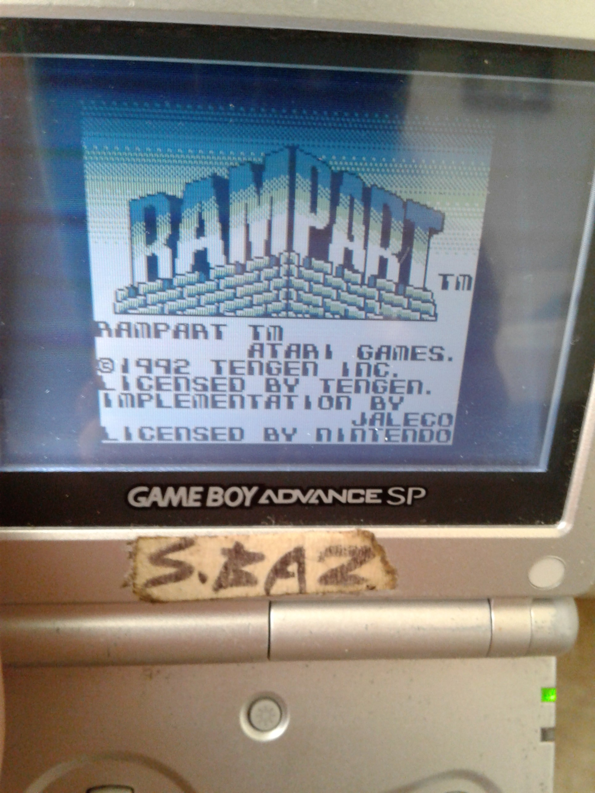 S.BAZ: Rampart (Game Boy) 6,499 points on 2018-10-19 14:45:42