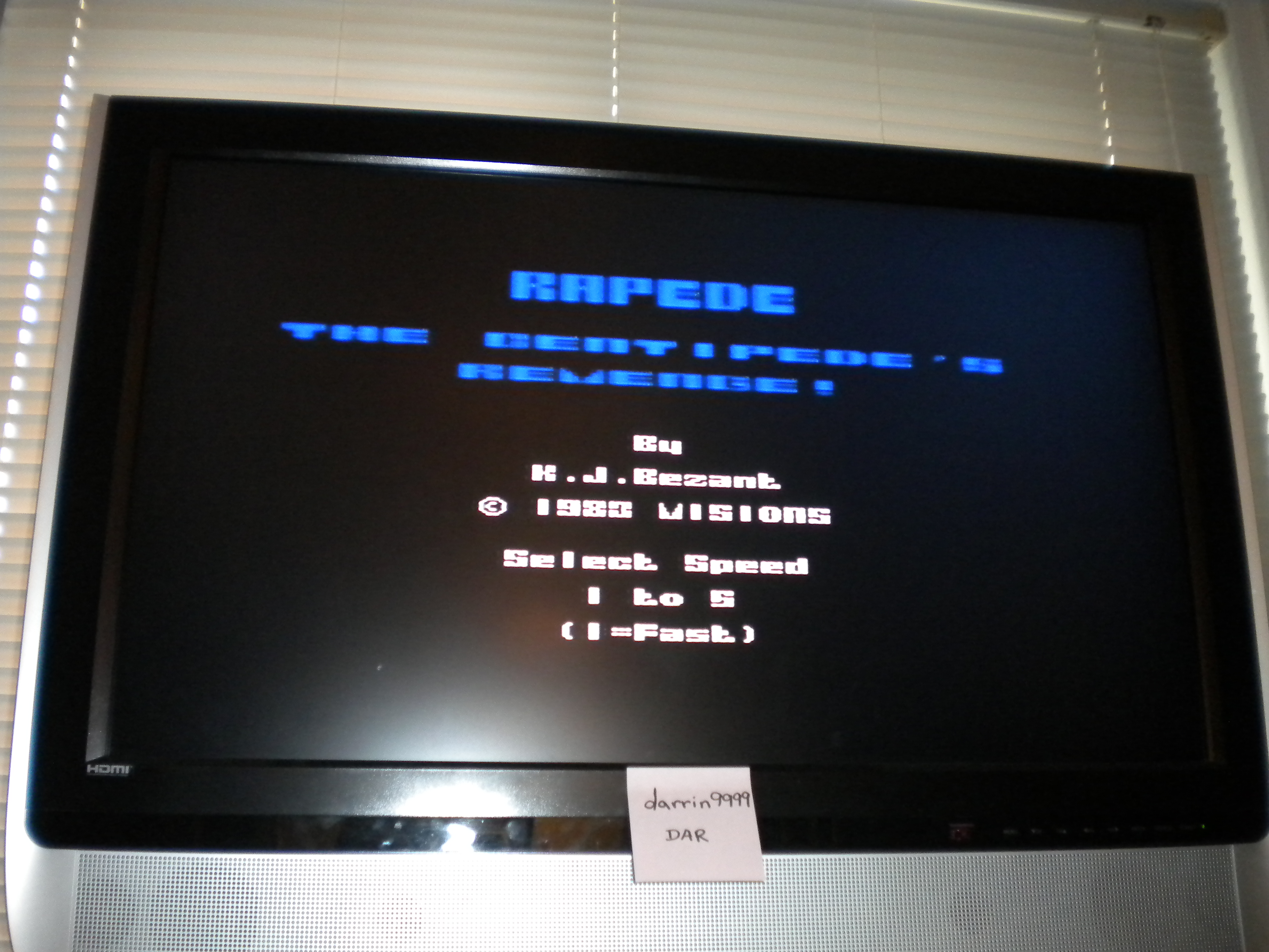 darrin9999: Rapede / Rapedes [Visions Software] (ZX Spectrum Emulated) 18,840 points on 2016-08-13 18:47:13