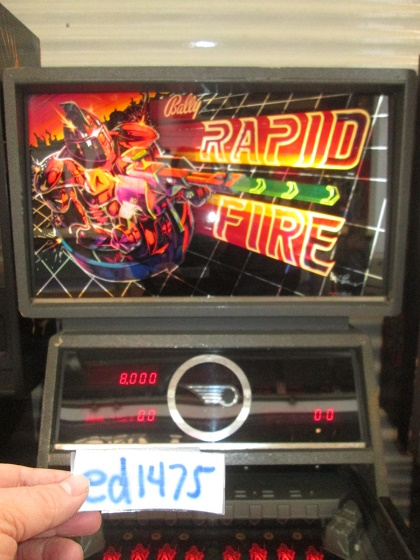 ed1475: Rapid Fire (Pinball: 3 Balls) 8,000 points on 2017-04-14 19:19:49