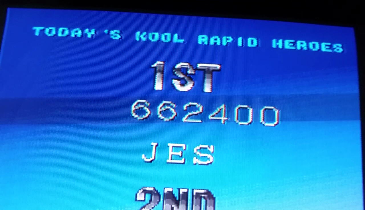 JES: Rapid Hero [raphero] (Arcade Emulated / M.A.M.E.) 662,400 points on 2017-04-14 22:54:07