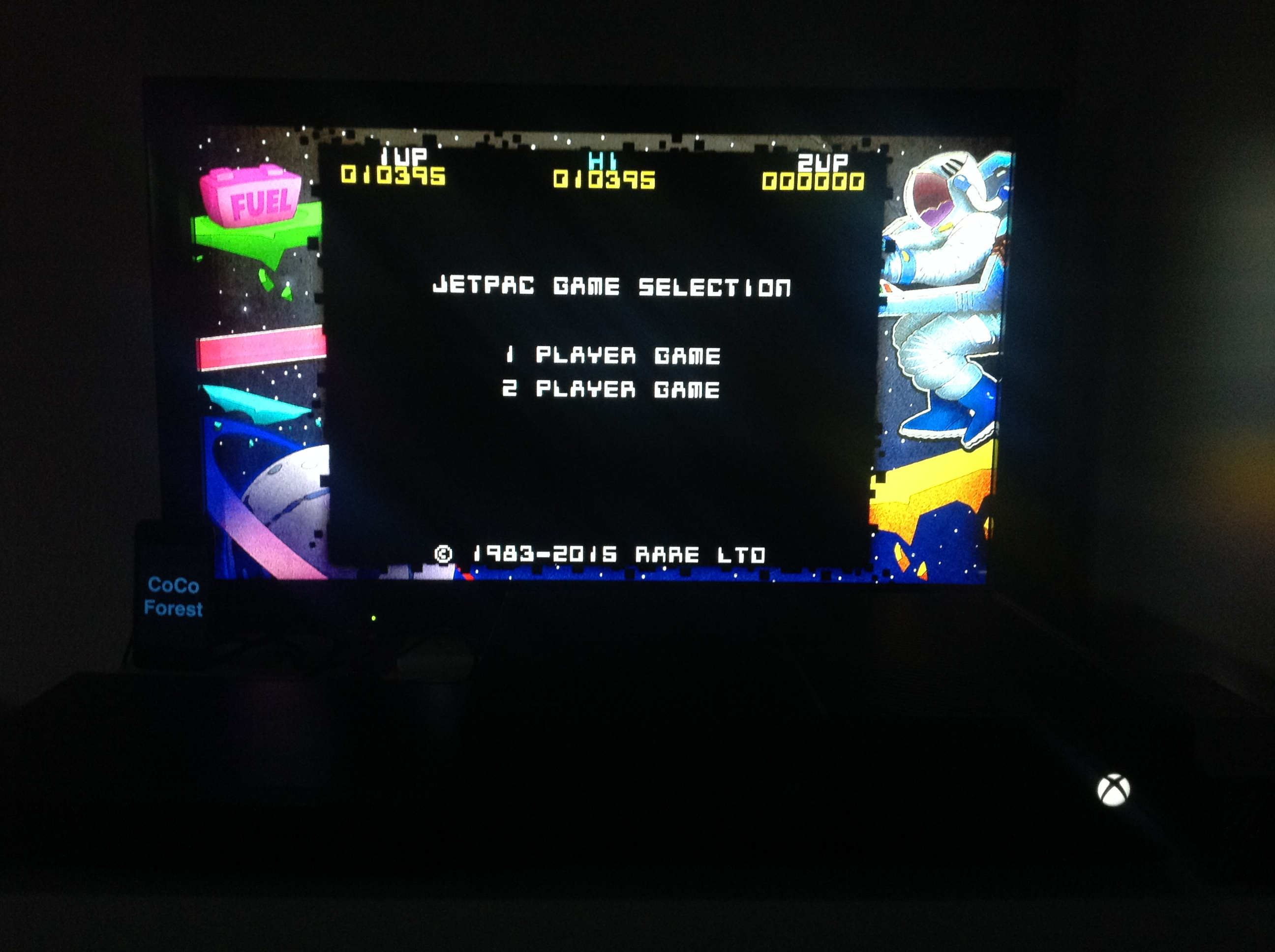 CoCoForest: Rare Replay: Jet Pac (Xbox One) 10,395 points on 2016-01-02 09:36:20
