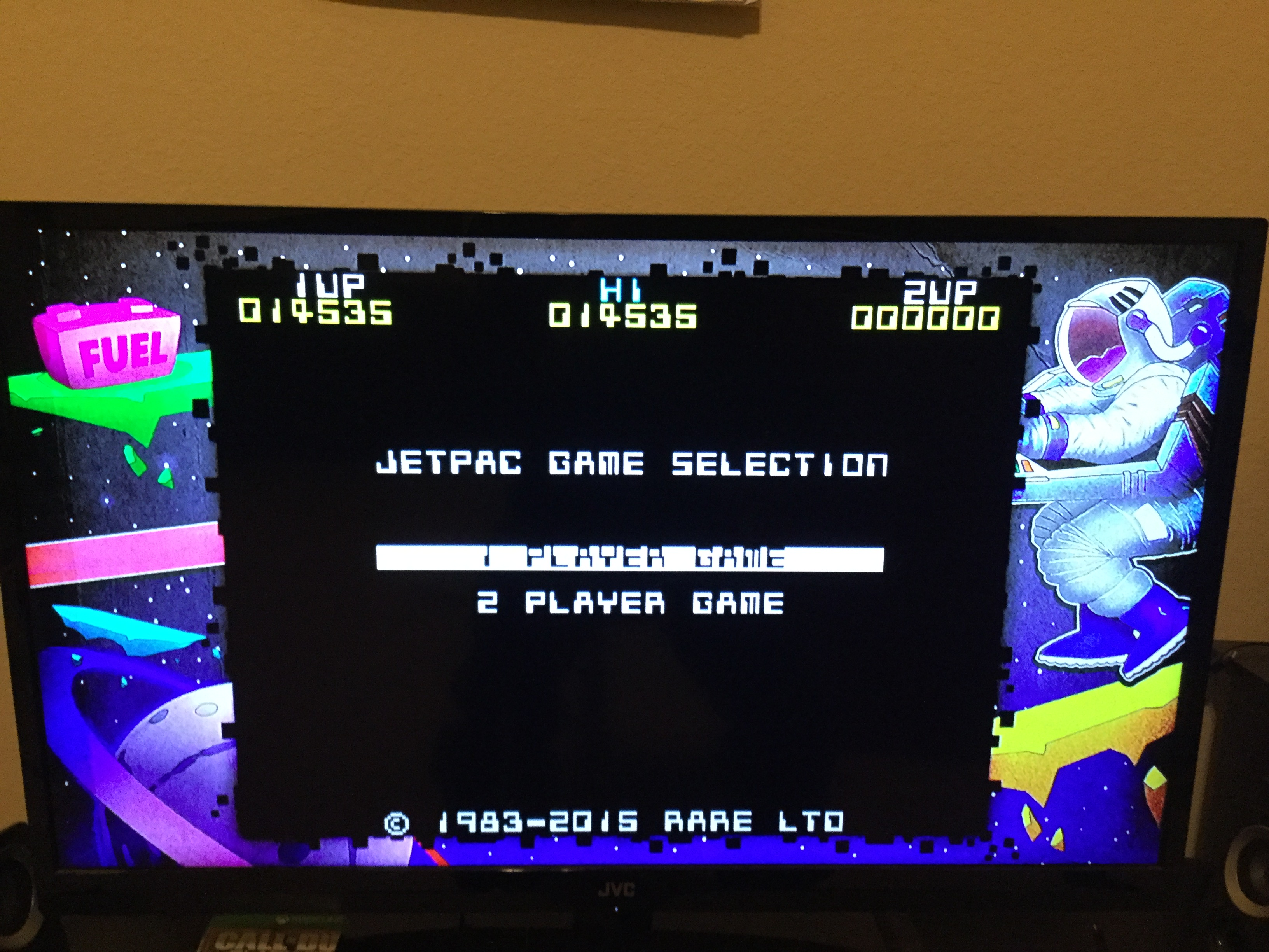 Unkown: Rare Replay: Jet Pac (Xbox One) 14,535 points on 2016-01-12 17:28:02
