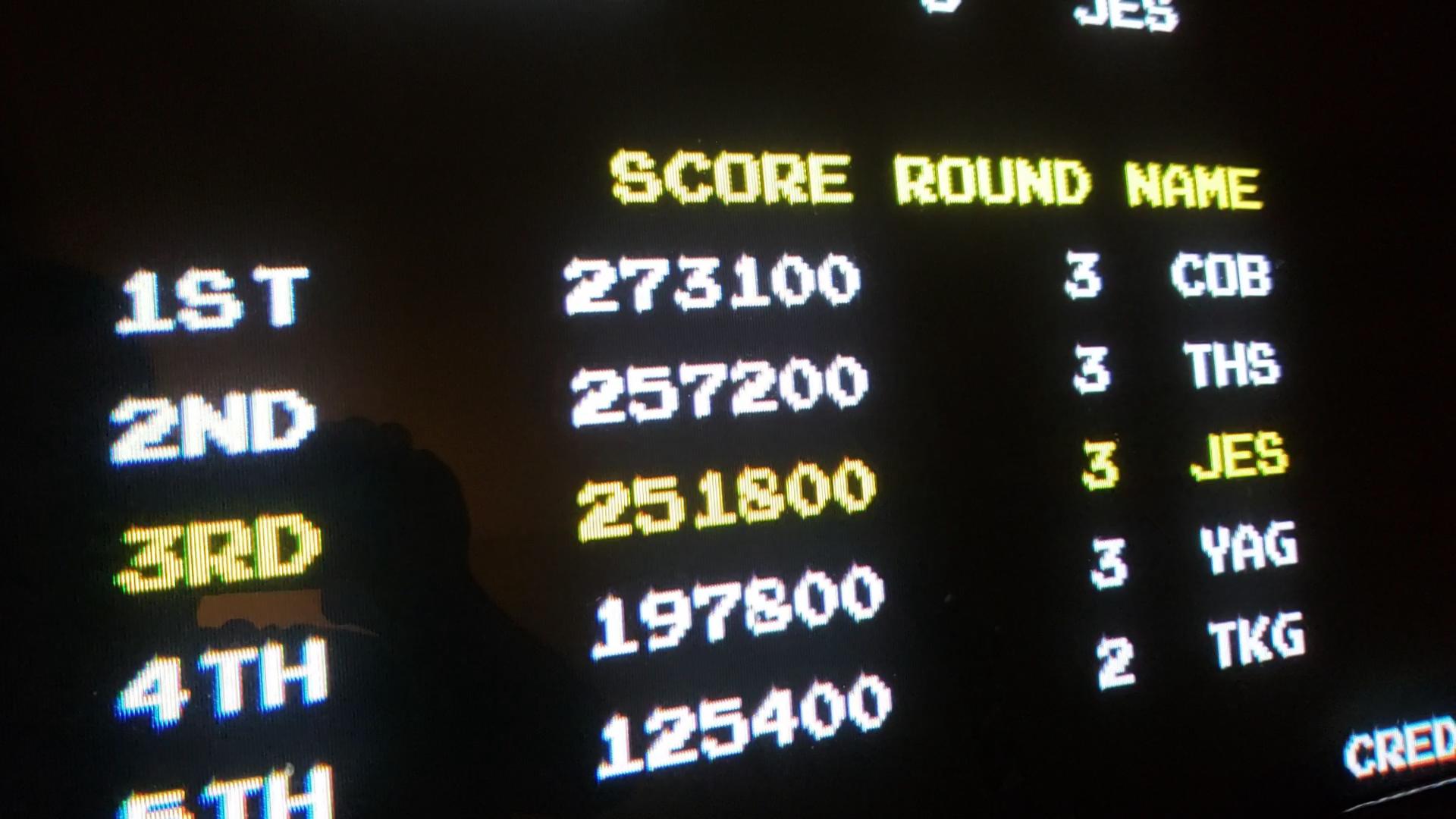 JES: Rastan Saga [rastsaga] (Arcade Emulated / M.A.M.E.) 251,800 points on 2020-07-03 01:06:06