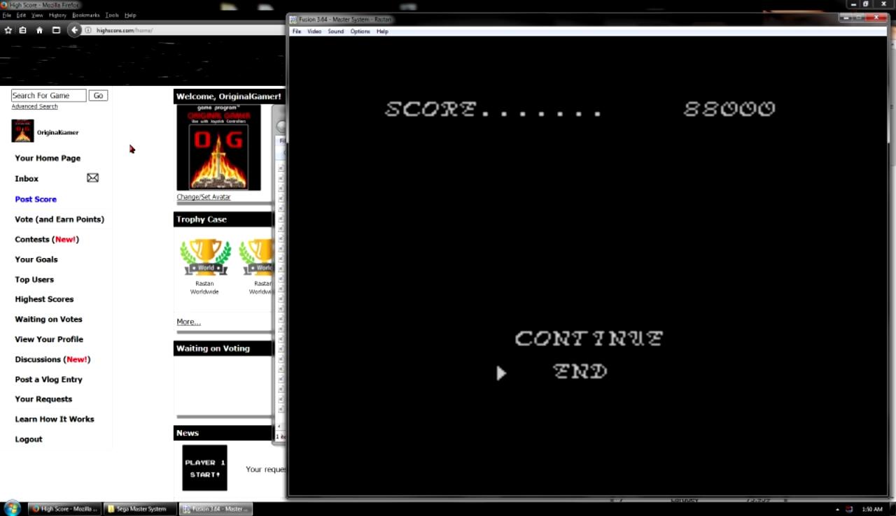 OriginalGamer: Rastan (Sega Master System Emulated) 88,000 points on 2017-10-29 22:57:19