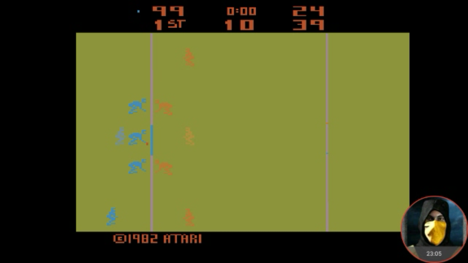 omargeddon: RealSports Football [Point Difference] (Atari 2600 Emulated) 75 points on 2018-02-12 15:21:45
