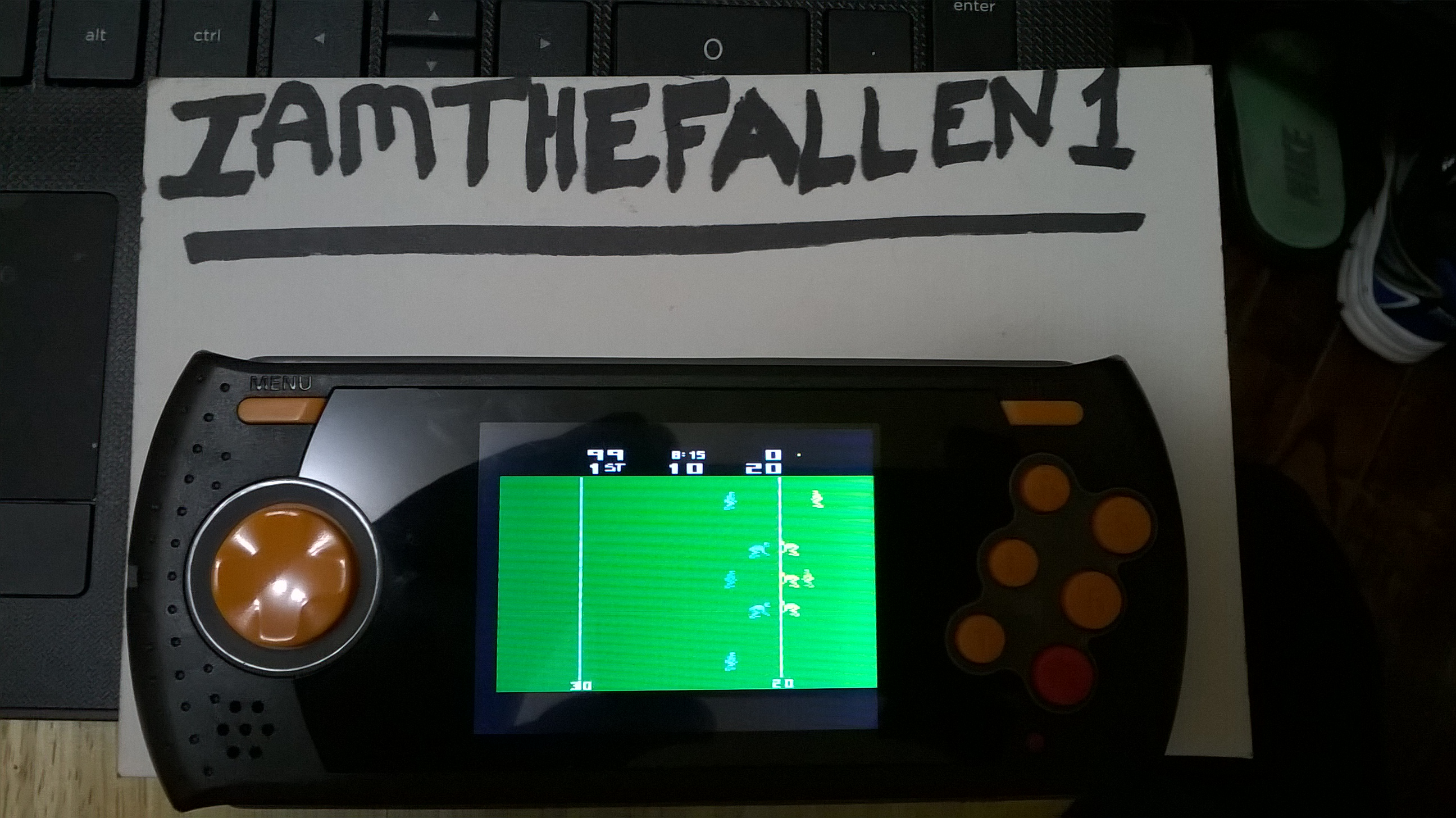 iamthefallen1: RealSports Football [Point Difference] (Atari 2600 Emulated) 99 points on 2018-02-13 16:56:36