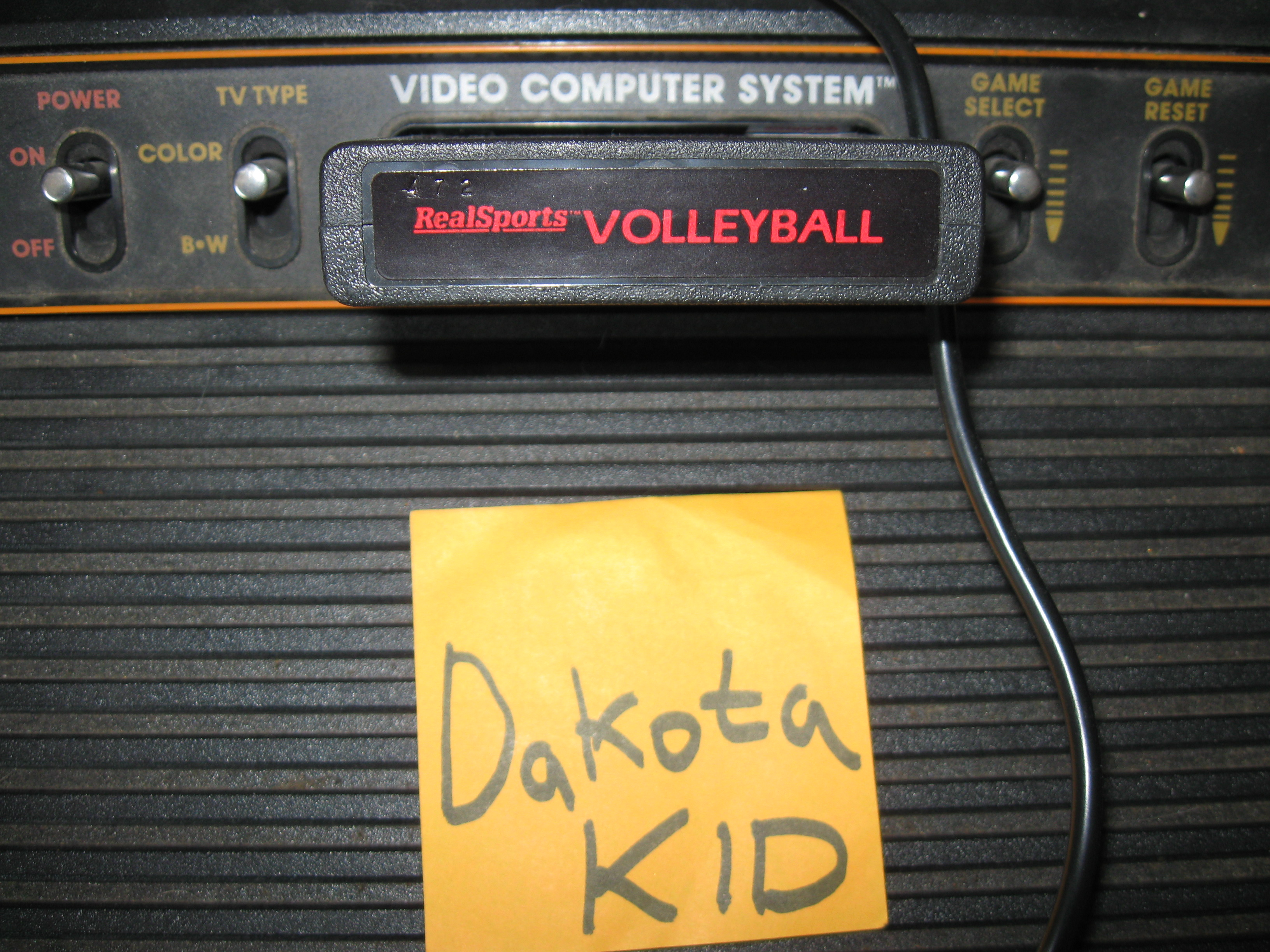 DakotaKid: RealSports Volleyball [Point Difference] (Atari 2600 Novice/B) 12 points on 2016-02-23 14:32:27