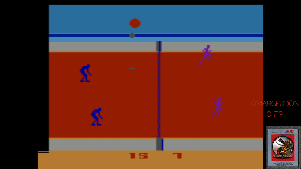 omargeddon: RealSports Volleyball [Point Difference] (Atari 2600 Emulated Novice/B Mode) 8 points on 2017-04-14 15:26:21