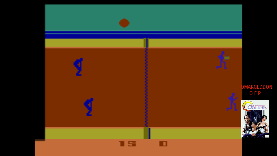 omargeddon: RealSports Volleyball [Point Difference] (Atari 2600 Emulated Novice/B Mode) 15 points on 2017-10-18 23:21:04