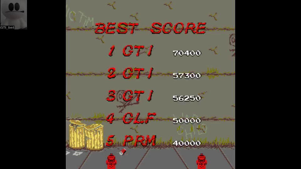 GTibel: Renegade (Arcade Emulated / M.A.M.E.) 70,400 points on 2016-07-27 04:30:50