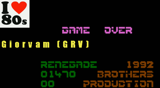 Giorvam: Renegade (Atari 400/800/XL/XE Emulated) 1,470 points on 2018-01-12 03:36:13