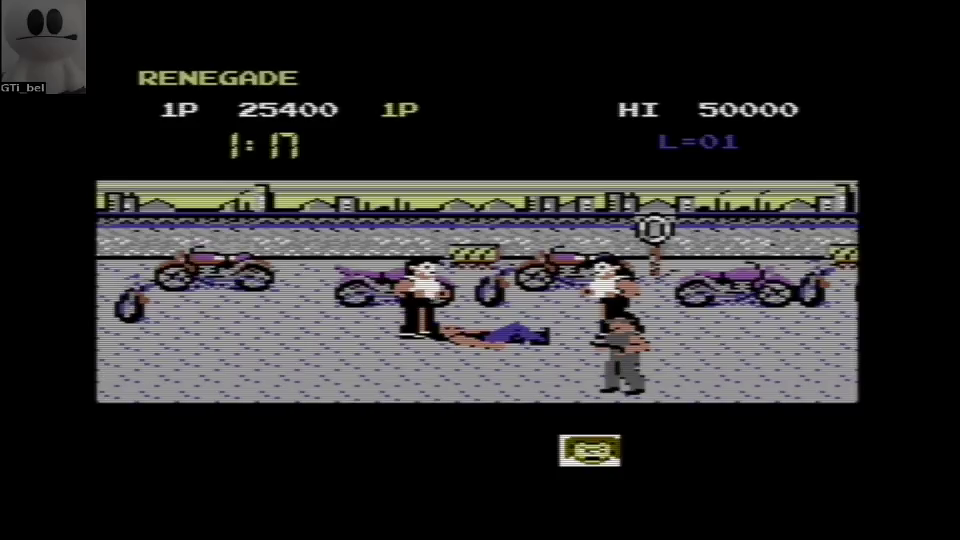GTibel: Renegade (Commodore 64 Emulated) 25,400 points on 2016-07-28 02:04:12