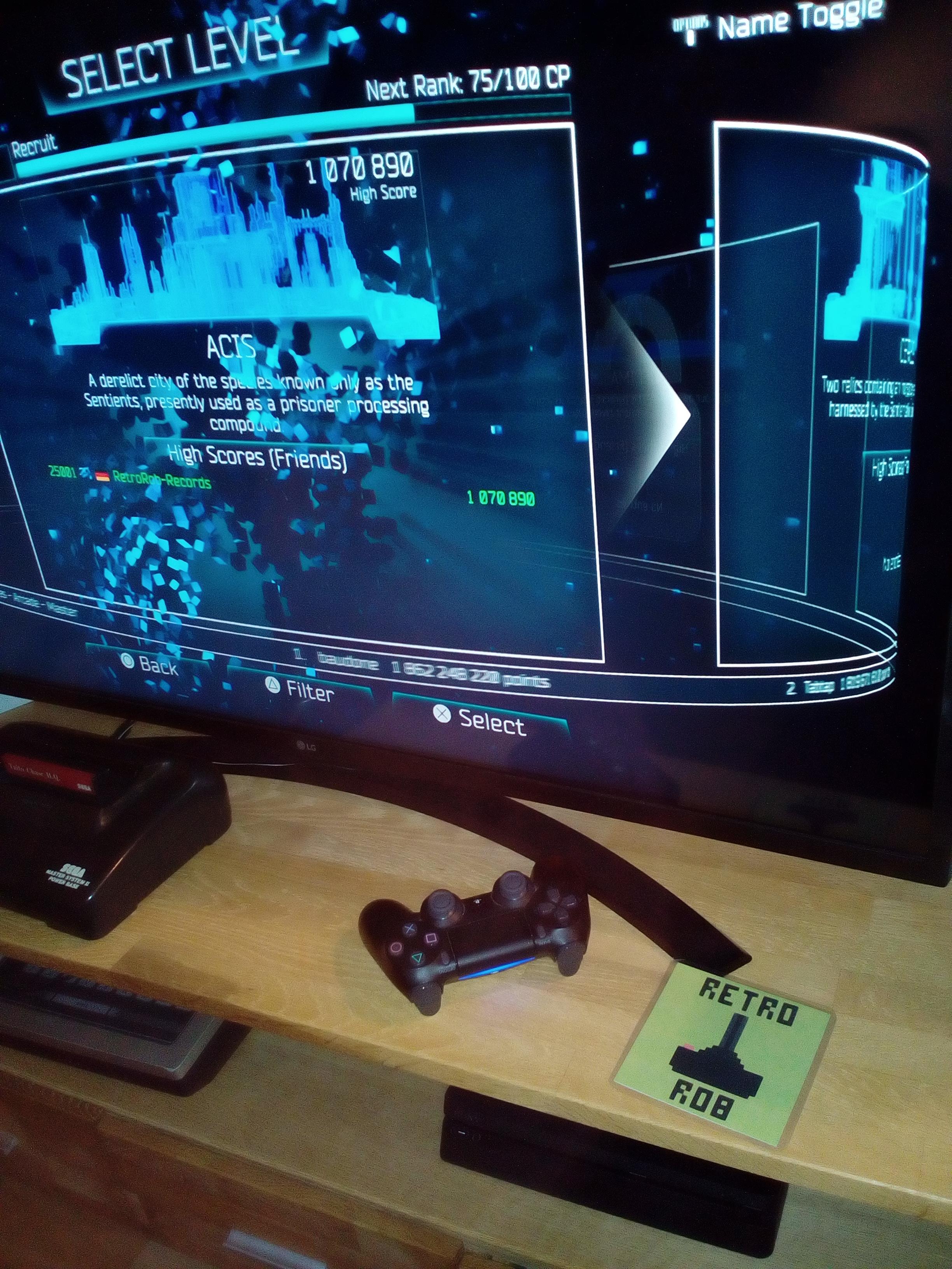RetroRob: Resogun [Single Level/Rookie] Acis (Playstation 4) 1,070,890 points on 2020-12-31 05:33:20