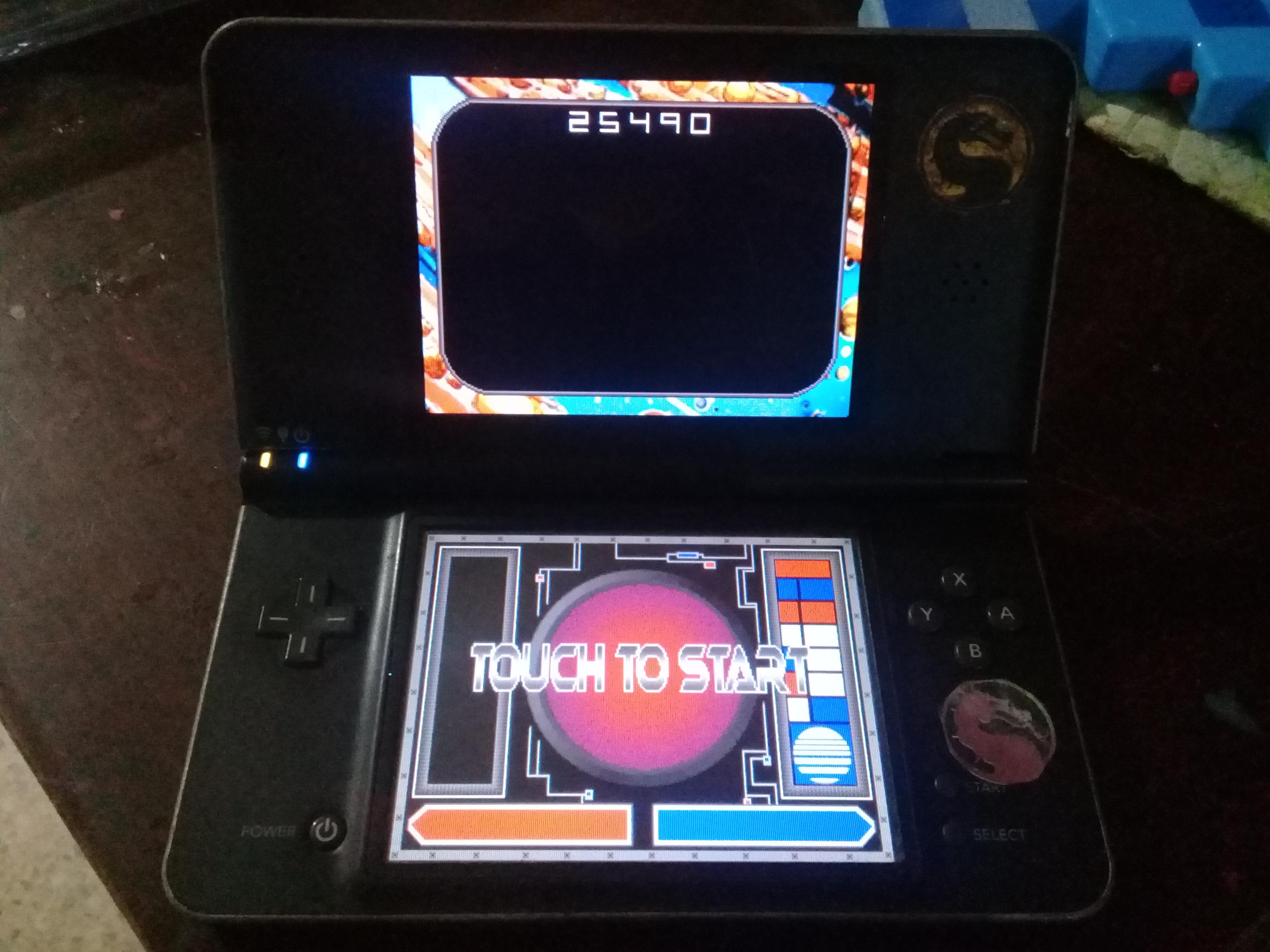 omargeddon: Retro Atari Classics: Asteroids [Arcade] (Nintendo DS) 25,490 points on 2020-12-24 15:47:43