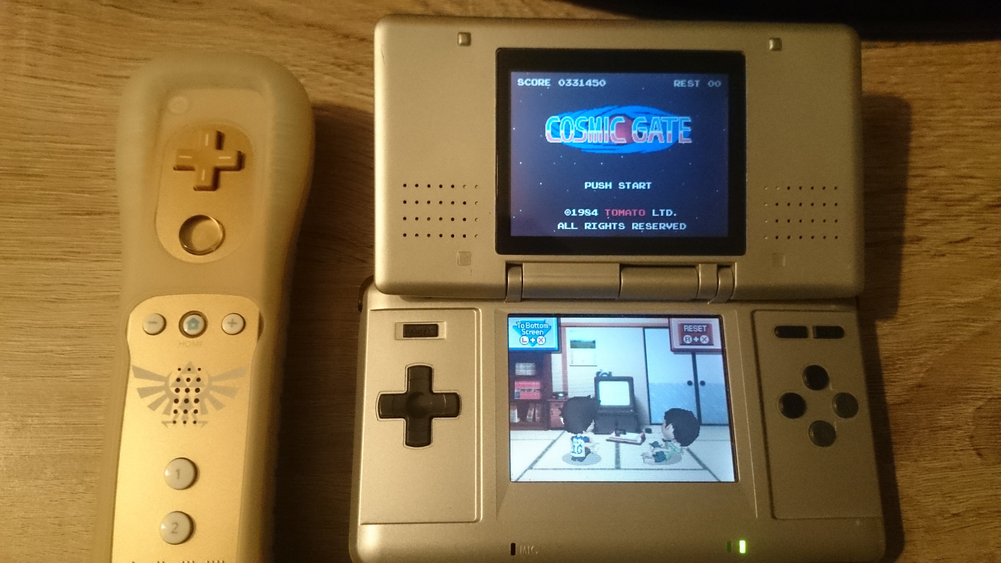 EddieNiceguy: Retro Game Challenge: Free Play: Cosmic Gate (Nintendo DS) 331,450 points on 2017-12-09 15:05:24