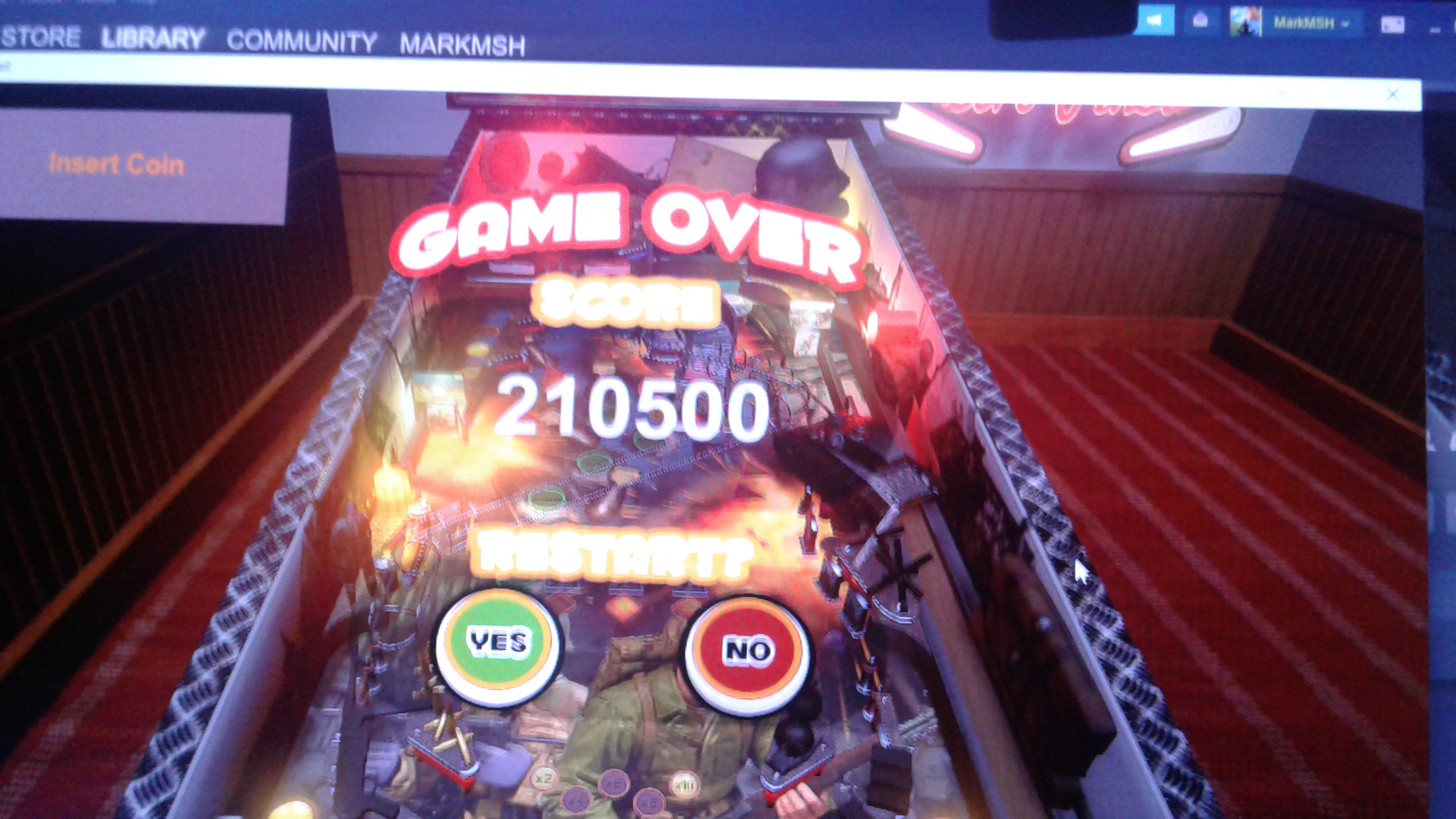 Mark: Retro Pinball: Call to War (PC) 210,500 points on 2020-05-08 01:23:16
