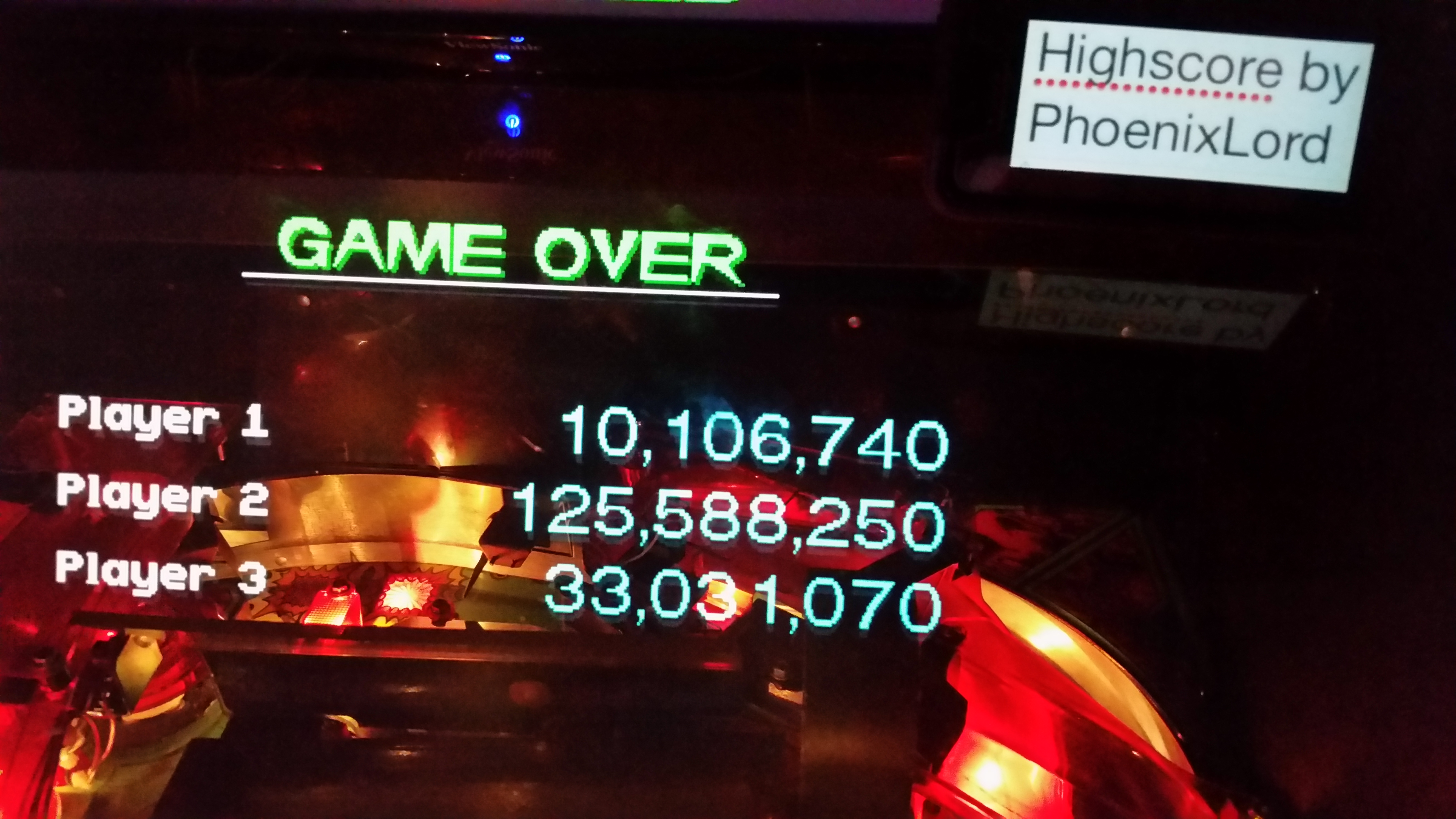 phoenixlord: Revenge From Mars (Pinball: 3 Balls) 125,588,250 points on 2017-03-03 21:28:52