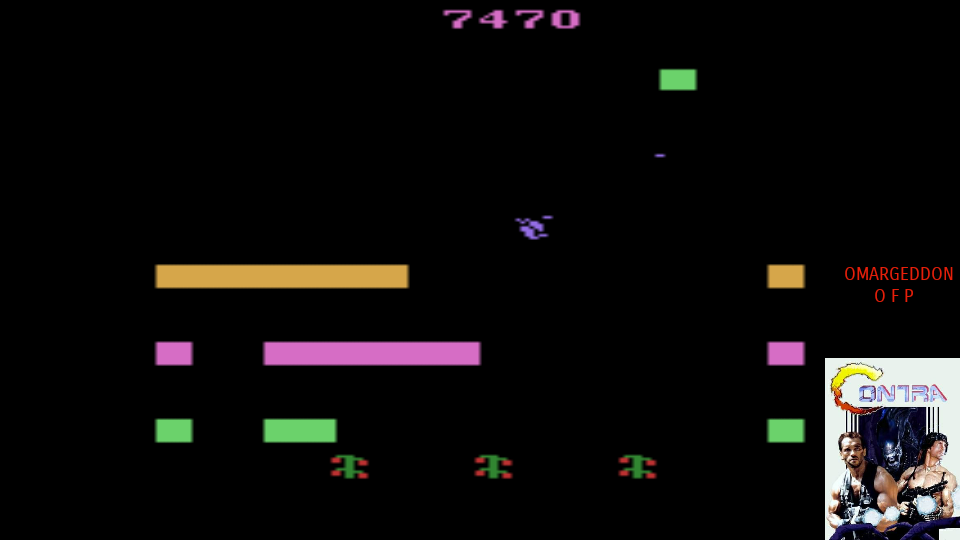 omargeddon: Revenge of the Beefsteak Tomatoes (Atari 2600 Emulated Expert/A Mode) 7,470 points on 2017-08-04 23:33:43