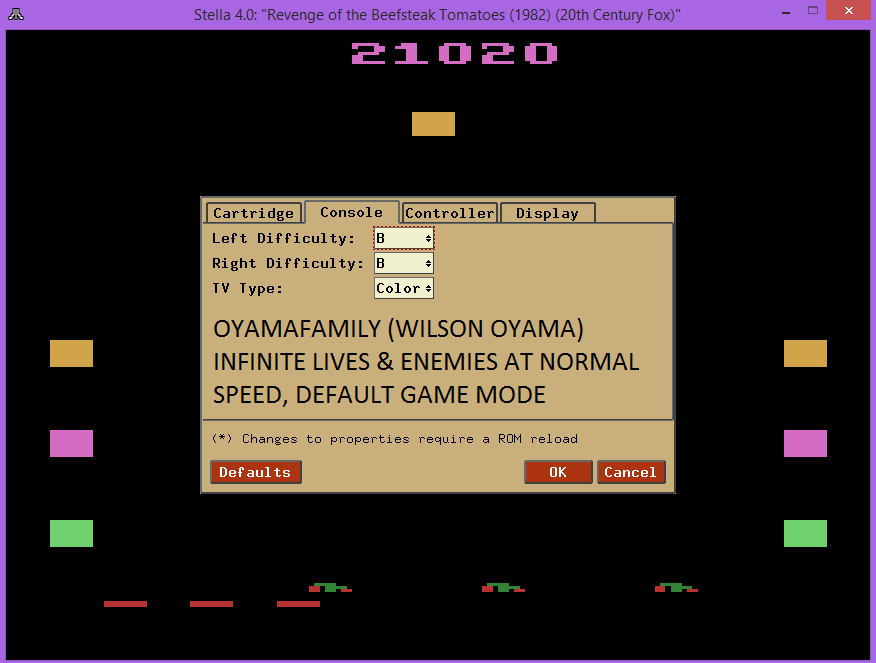 oyamafamily: Revenge of the Beefsteak Tomatoes (Atari 2600 Emulated Novice/B Mode) 21,020 points on 2015-08-22 21:11:59