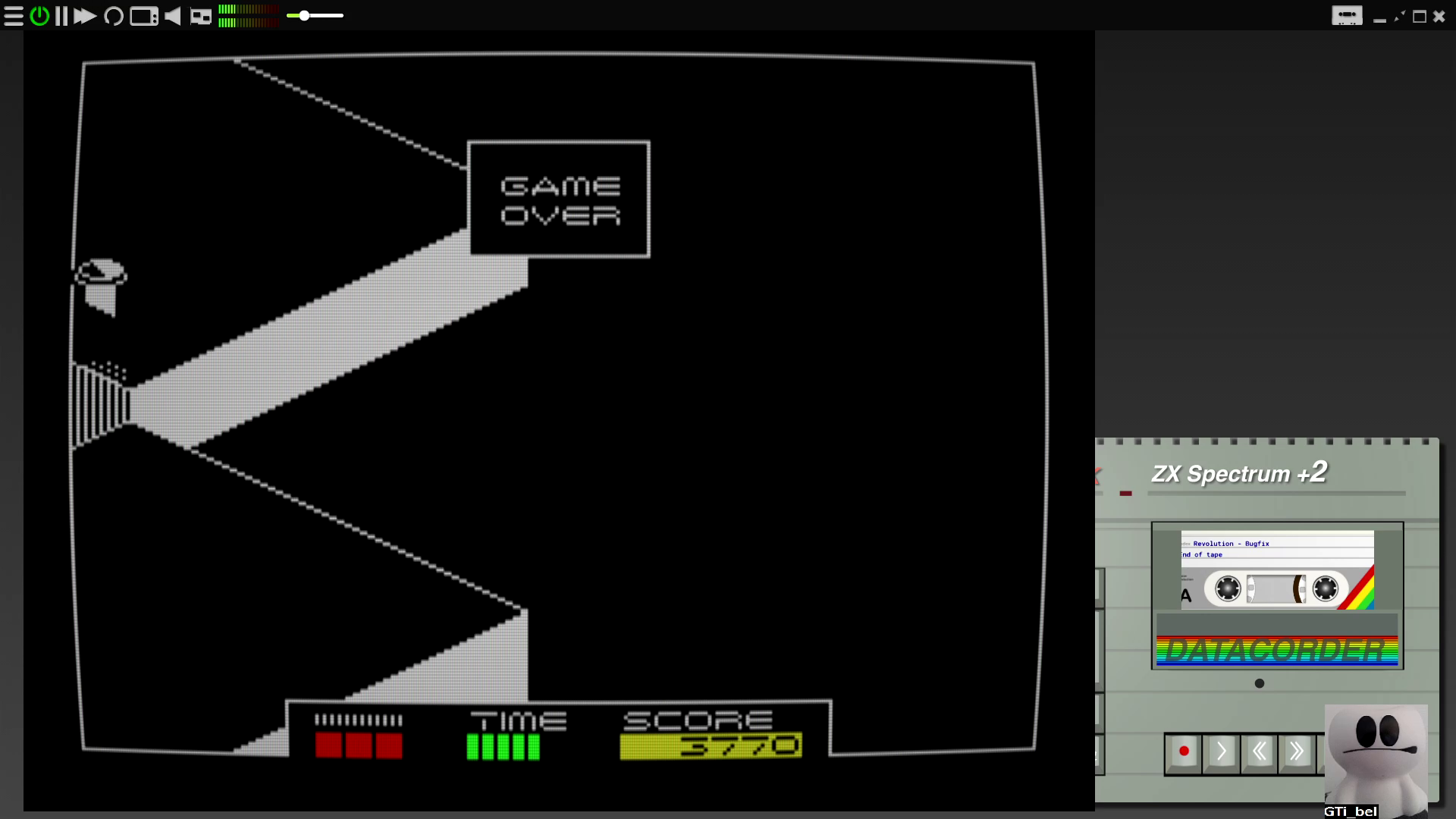 GTibel: Revolution (ZX Spectrum Emulated) 3,770 points on 2020-08-14 07:37:47